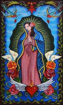 Virgen de Guadalupe buenos dias poster