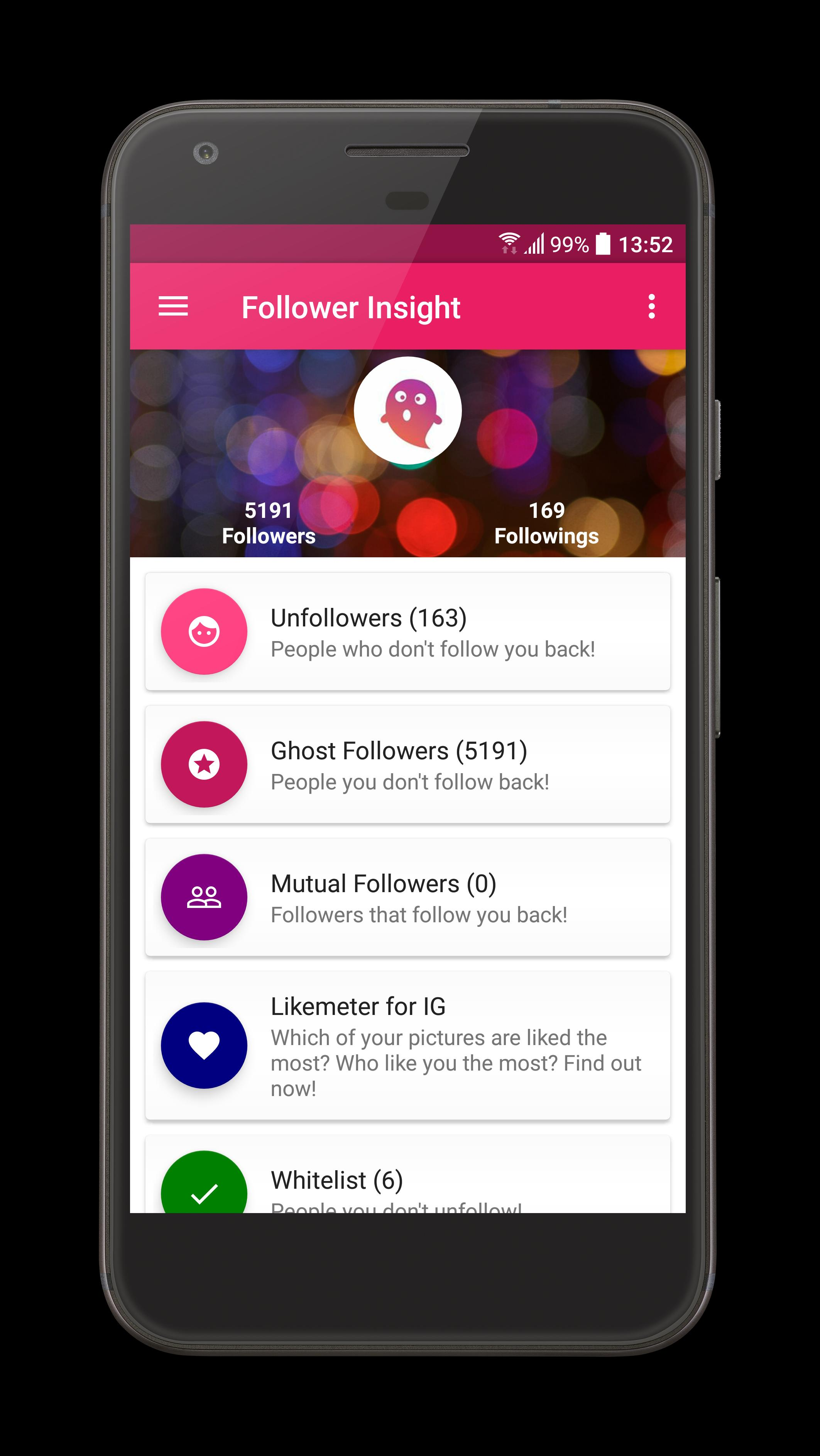 Unfollowers & Ghost Followers (Follower Insight) for Android - APK