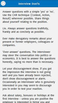 Interview Question and Answers apk screenshot