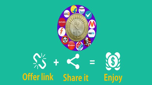 Online shopping India free earn by sharing poster