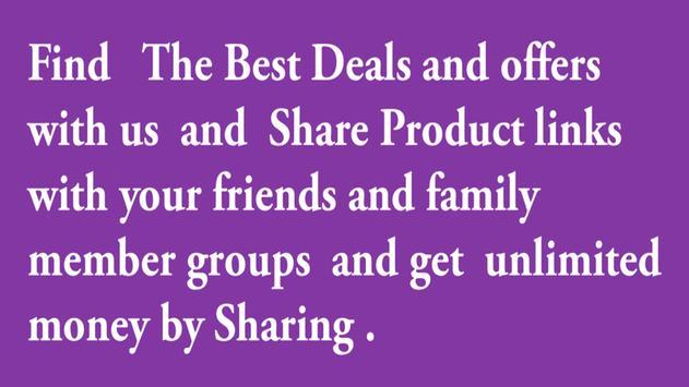 Online shopping India free earn by sharing apk screenshot