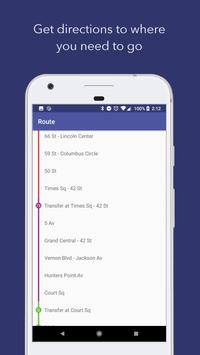 NYC Subway: Offline Map + Train Times for New York apk स्क्रीनशॉट
