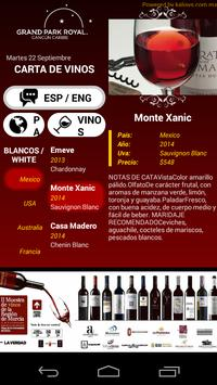 Menu Vinos apk screenshot