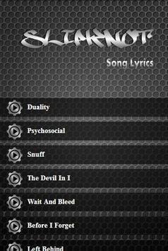 Slipknot Album Lyrics apk screenshot