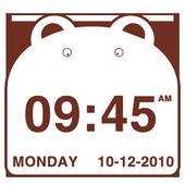 Cute Bear Clock Widget icon