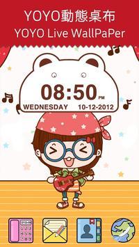 Cute Bear Clock Widget poster