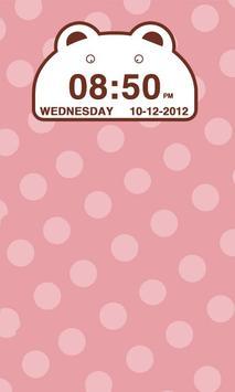 Cute Bear Clock Widget apk screenshot