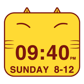 Cute Kitty Cat Clock Widget icon