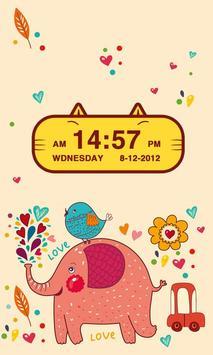 Cute Kitty Cat Clock Widget poster