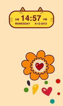 Cute Kitty Cat Clock Widget apk screenshot