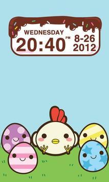 Chocolatecake Clock Widget apk screenshot