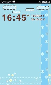 LiveCloud Clock Widget apk screenshot
