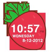 Strawberry Clock Widget icon