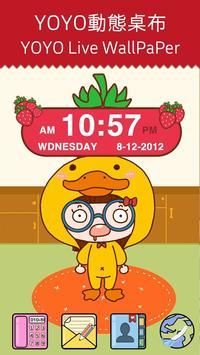 Strawberry Clock Widget poster