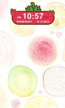 Strawberry Clock Widget apk screenshot