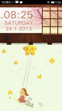 SakuraStyle Clock Widget apk screenshot
