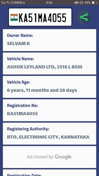 Vehicle Info - India screenshot 1