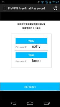 FlyVPN free trial password poster