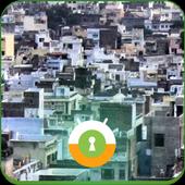 Udaipur City Wall & Lock icon