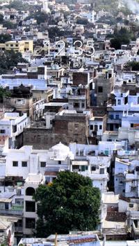Udaipur City Wall & Lock poster
