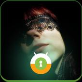 Woman In BlackMask Lock Screen icon