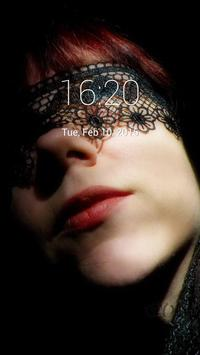 Woman In BlackMask Lock Screen poster
