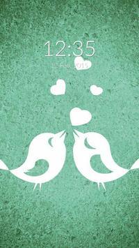 Birds Heart Wall & Lock apk screenshot