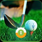 Golf Wall & Lock icon