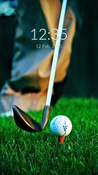 Golf Wall & Lock poster