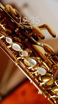 Saxophone Wall & Lock poster