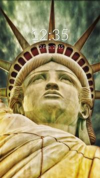 Statue of Liberty Wall & Lock poster