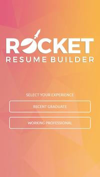 rocket resume builder apk screenshot