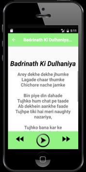 Songs Badrinath Ki Dulhaniya poster
