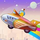 rocket racer 6 space;toy icon