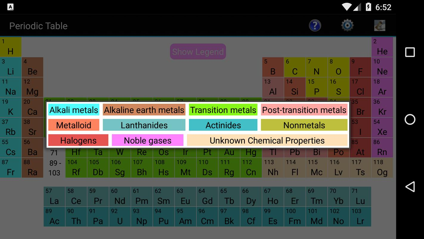 Periodic table apk download free education app for android periodic table poster periodic table apk screenshot urtaz Image collections