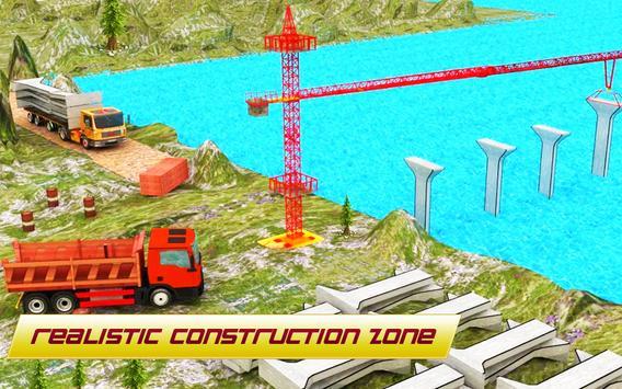 Bridge Construction 3D : Real City Crane Simulator screenshot 1