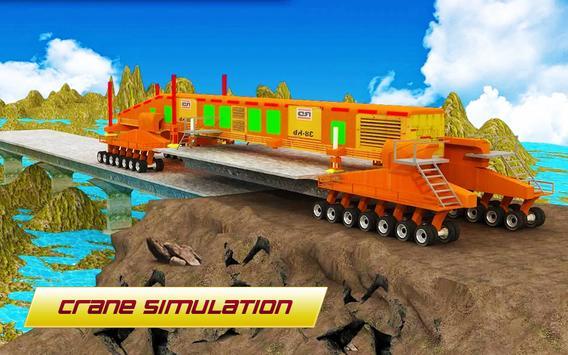 Bridge Construction 3D : Real City Crane Simulator screenshot 2