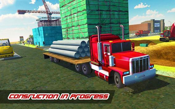 Construction Simulator : Heavy Crane Road Builder screenshot 1