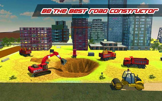 Construction Simulator : Heavy Crane Road Builder screenshot 2