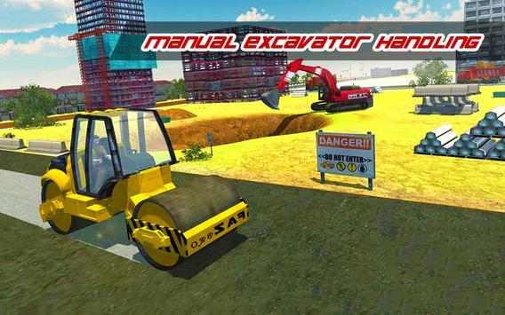 Construction Simulator : Heavy Crane Road Builder screenshot 8