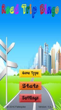 Road Trip Bingo poster