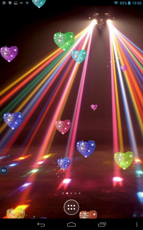 disco hearts on screen apk download free entertainment app for