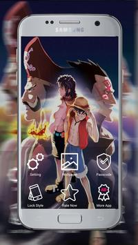 One Luffy Peace Lock Screen screenshot 1