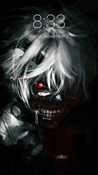 Kaneki Anime Ghoul Lock Screen poster