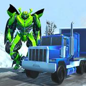 Robot Car Transport Game : Police Plane Transform icon