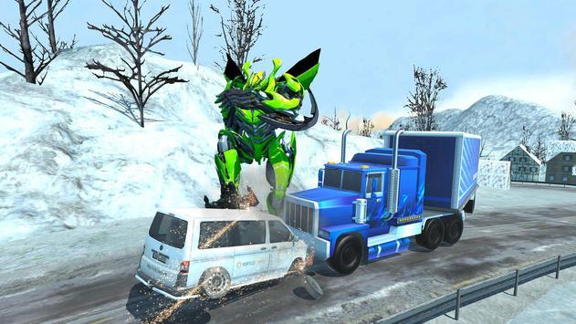 Robot Car Transport Game : Police Plane Transform screenshot 1
