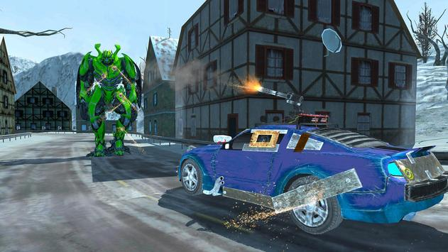 Robot Car Transport Game : Police Plane Transform screenshot 5