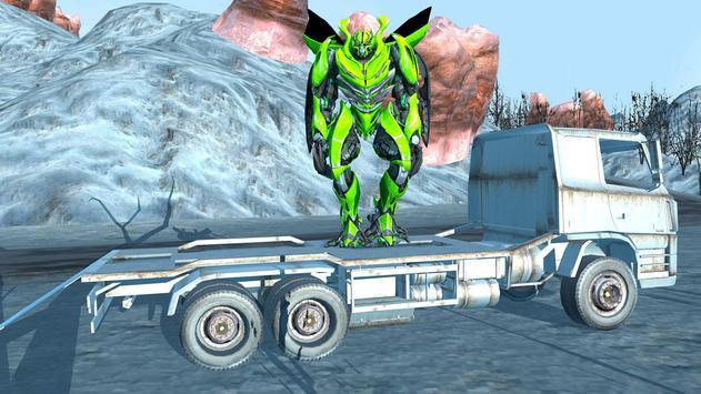 Robot Car Transport Game : Police Plane Transform screenshot 8