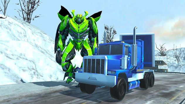 Robot Car Transport Game : Police Plane Transform screenshot 9