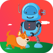 Robot and Dog icon